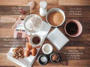 Lebkuchen Brownie Rezept im Beitrag Winterhochzeit Deko